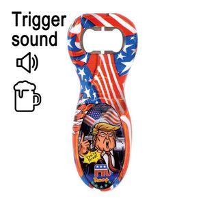 Trump abridor de garrafas de vinho de aço portátil de voz soar engraçado inoxidável Beer abridores de Cozinha Gadget Party Favors LJJO8267