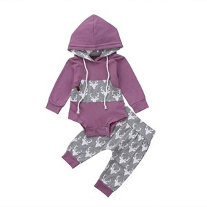 Newborn Toddler Infant Kid Baby Boy Clothes Top Hoodies Long Sleeve Bodysuits Long Pants Autumn Outfits 2Pcs Sets