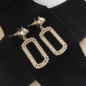 New hot-selling square pearl pendant designer earrings Luxury designer and jewelry women earrings