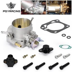 PQY - 70MM Throttle Body Kit Con TPS SENSORE MAP per Honda B / D / H / F Serie B16 B18 309-05-1050 Corpi farfallati 309.051.050 PQY-TTB92 / 6959 +