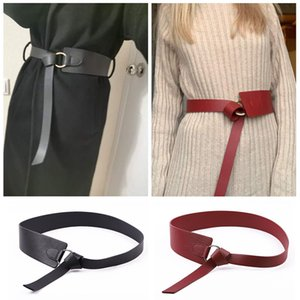 Fashion Belts For Women Solid Black Female Bow Knotted Long Leather Belt Leisure Wedding Dress Woman Waist Belt Accesorios Mujer