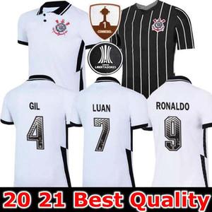camisas de futebol corinthians 2020 2021 Camisetas masculinas coríntias casa longe GIL RONALDO LUAN FAGNER PEDRINHO 20 21 NETO camisa de futebol