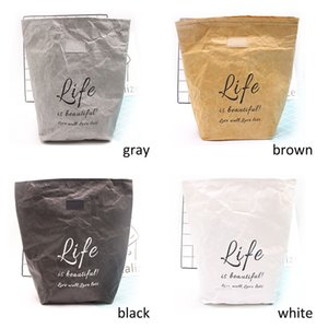 1Pcs Eco-friendly Merchandise Grocery Bags Kraft Paper Portable Reusable Thermal Snack Lunch Bags Insulated holder