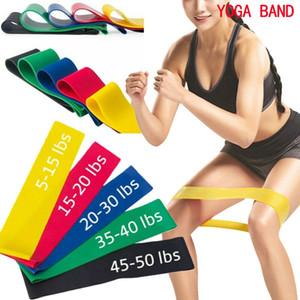 Conjunto de 5 Resistência Yoga bandas de resistência de borracha Indoor treino Outdoor Fitness Equipment Training Pilates Esporte elásticas Bandas