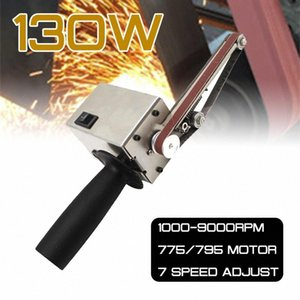 130W Electric Handheld Sander Belt Machine Sanding Grinding Polishing Machine Abrasive Belts Grinder DIY Polishing Cutter Edges nlQx#