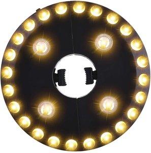 파티오 우산, 야영 천막을위한 화이트 파티오 우산 등 3 밝기 모드 무선 (28) LED 조명 우산 폴 라이트를 따뜻하게