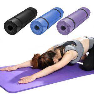 10 mm de espesor Yoga Mats 183X60 Pilates fitness pesas alfombra antideslizante Bailar ejercicio de la gimnasia para principiantes Pad Hombres Mujeres Tapete