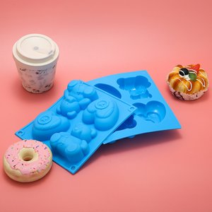 Children love cartoon bear complementary baking temperature silicone cake mold DIY