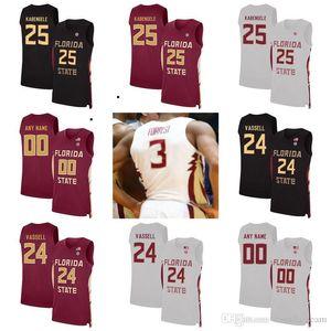 Florida State Seminoles Jerseys Ty Hands Jersey Christ Koumadje Mfiondu Kabengele Devin Vassell Light Men Basketball Jerseys Custom Stitched