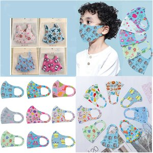 Stretch Mask Kids Face Mask mascarilla Cloth Cartoon Character Face Cover Nose Face Mouth Protection Washable Reusable Mask