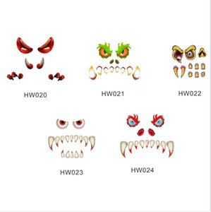 32inch Halloween Monster PVC Door Floor Sticker Auto-stick Horrible Eyes Fangs Claws Removable Waterproof Wallpapers Home Décor HA1021