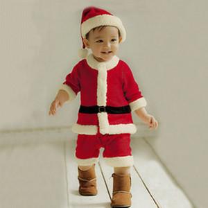 الأطفال بالجملة عيد الميلاد ملابس اطفال تأثيري بابا نويل البدلة بنين بنات ديكور الشتاء لينة مريحة الأحمر الدافئة الصفحة الرئيسية ملابس