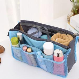 Multifunktionale Spielraum-Toilettenartikel-Speicher-Beutel-Verfassungs-Organisator-Doppelt-Reißverschluss-große Kapazitäts-multi Schicht-kosmetische Speicher-Handtaschen DHC138