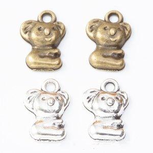 150pcs 11*16MM Antique silver color Koala bear charms vintage alloy pendants for bracelet earring necklace diy jewelry making