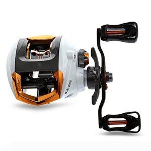 Exbert 12 + 1 roulements étanches gauche main droite Baitcasting Moulinet haute vitesse Bobine de pêche avec le système de freinage magnétique