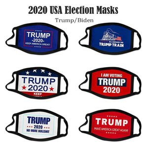 US Stock Azioni DHL Ship 2020 Maschera di cotone Trump Election Truppo Tenere America Grande di nuovo Cosplay Biden Party Face Masks Anti Polvere di inquinamento della bocca