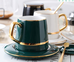 2020 hot sale Coffee Cup European style small luxury simple dim sum dish Nordic teacup ceramic water cup household afternoon tea set