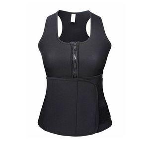 Neoprene Sauna Suit Tank Top Sweat Vest Workout Shapewear Adjustable Waist Trainer Trimmer Body Shaper Compression Hourglass MX200711