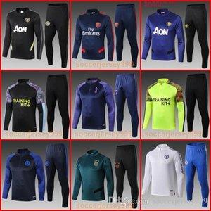 맨체스터 훈련 정장 도시는 19 개 (20) 유니폼 chandal survêtement 조깅 남자의 페페 아약스 축구 유니폼 축구 운동복 스웨터를 박차