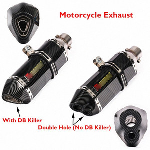 Motorcycle Exhaust Muffler Escape Carbon Fiber Stainless Steel Exhaust Pipe for Universal kPTR#