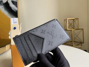 2020 лучшего качество Конструктор бумажник с коробкой Роскошного кошельком с коробкой из натуральной кожи мужского бумажника женщин держателя карты мужчина кредитных карт бумажник M69533