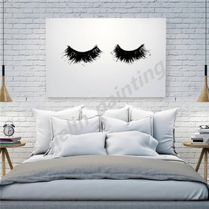 Thick Eyelashes Nordic Print Oil Minimalist Canvas Painting Decoration Picture Wall Art Poster Home Decor