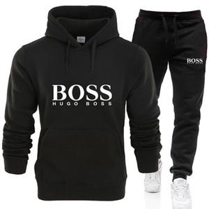 Mens Calça de Bos terno dos esportes impressão dos homens ocasional primavera algodão e sportswear casual camisola Men Outono BOSS