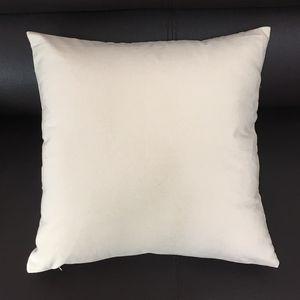16x16 Zoll Blank Canvas Kissenbezug Natur Leinwand-Kissenbezug Weiß Cotton Kissenbezug Schwarz Kissenbezug für Handdruck (3 Farben)