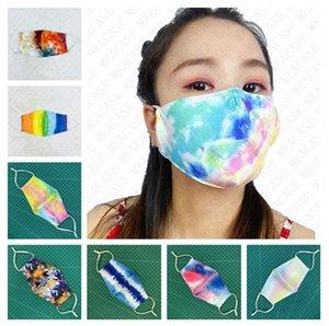 Eklemek Baskı Yüz Maskesi PM2.5 Filtre Kravat Boyalı Ağız Hazır Sun Geçirmez Yıkanabilir D72201 Koruyucu Kapak Yetişkinler Maske Maske Yaz Toz Geçirmez XQXA