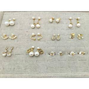 2020CD Kollektion Luxuxschmucksachen Frauen Designer-Ohrringe 925 silberne Nadel hypoallergen mit Buchstaben D Logo