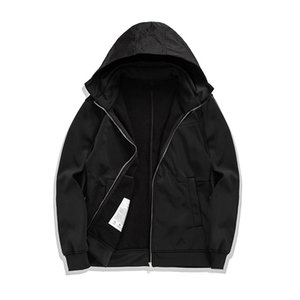 Taş Korsan 19fw Düz renk sade tarzı ceket, sonbahar ve kış Ücretsiz kargo içinde polar sıcak ceket