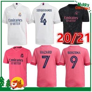 2020 James Real madrid calcio Jersey Benzema Jovic Modric Ramos Bale PERICOLO sportive kit 20 21 uomo adulto + bambini camicia di calcio