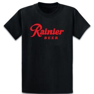 Rainier Beer Preto Rápido de alta qualidade Beer T Luz Solar shirt de algodão sobre Size 5XL personalizado Lazer Moda roupas de primavera shirt