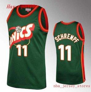 Men's basketball SeattleSupersonics35 Durant 11 Schrempf 20 Payton 34 Allen 40 Kemp retro home Swingman Jersey 01