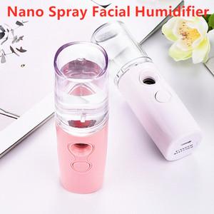 Portable vapeur visage Nano alcool Humidifier Vaporiser Vapeur facial de charge USB Mini Aroma Diffuseur Etuve Instrument de beauté