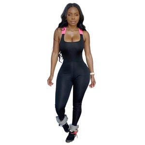Sexy oco Out Open Back Bandage Jumpsuit Womens Catsuit mangas Push Up Academia Workout Romper macacões