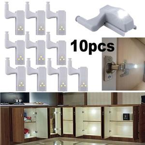 Supplies 10pcs Cabinet Armário Roupeiro automática LED dobradiça Luz Branca Smart Lamp Sensor Início de cozinha