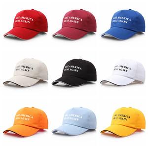 Hacer de Estados Unidos Gran Cap vez más de 9 colores gorra de béisbol Donald Trump navidad del béisbol Regalo casquillos del Snapback 60pcs Big Party Kids Sombreros CCA12316