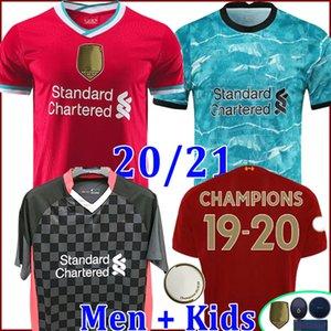 Liverpool ليفربول ليفربول LVP محمد M. صلاح كرة القدم جيرسي 2021 2020 قميص كرة القدم 21 20 VIRGIL MANE FIRMINO KEITA MILNER SHAKIRI حارس المرمى رجال + مجموعة أطفال