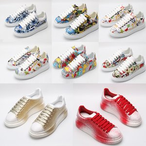 top quality with box 2020 designer fashion luxuryalexander Plate-forme mcqueensmcqueen men women platform shoes baskets sneakers