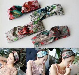 2020 Design Elastic Headband for Women Designer Hairband For Women Girl Retro Turban Headwraps Gifts 3 color