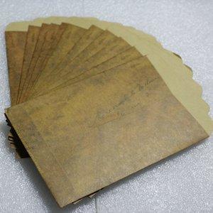 Toptan-100pcs 15.5 * 10.8cm kartpostal eski, retro renk ile kese yağlı kağıt zarf zarf