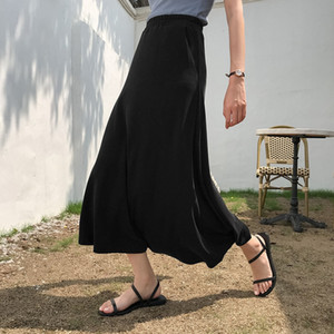 Simple lrge size type umbrell long a women's summer clothes 2020 new matching ankle student long skirt umbrella skirt looks slim