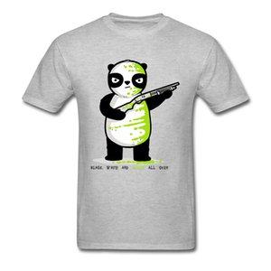 Смешные Мужские футболки повседневные футболки Green Panda Tshirt Mascot Tops тройники компании O шеи Повседневный короткий рукав хлопок одежды