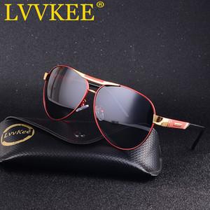 LVVKEE Мужского солнечных очков конструктора тавро Pilot поляризованные Мужские ВС очки вождение очки Gafas Мужчина для для мужчин
