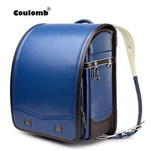 oğlan Japon Öğrenci Backpack Coulomb Randoseru Kid PU Katı Çocuk okul çantası 2020 yeni stil kontrast renk tasarımı