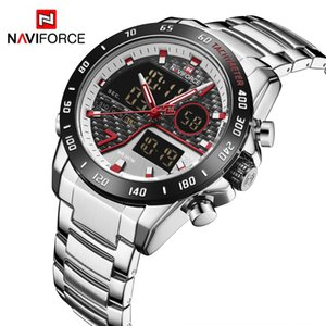 VXKp0 NAVIFORCE Lingxiang 9171 fashion double display large dial Sports men's waterproof electronic quartz Electronic Quartz watch watch men