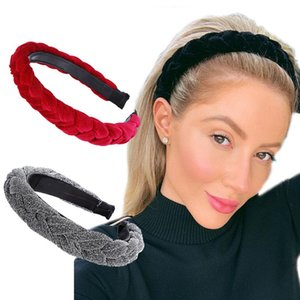 Ampla Acessórios Cabelo Bandas de cabelo da moda brilhante Weaving Hairbands trançado Headband Cabelo Hoop moldura touca para Wedding Party Mulheres Jóias