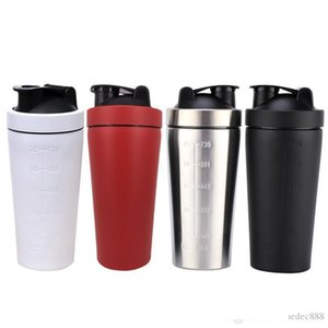 Shaker Cups 304 Stainless Steel Protein For Gym Fitness Sports-4 Colors Large Capacity Milkshake Large Diameter Measure Cup DH0573