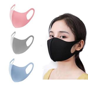 Дизайнер Ice Silk Mask Anti-Sist Face Cover PM2.5 Респиратор пыленепроницаемый моющийся многоразовый ледяной шелковые хлопковые маски для взрослых детей маски